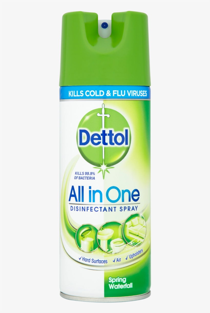 Dettol All In One Disinfectant Spray - Dettol All In One, transparent png #8639223