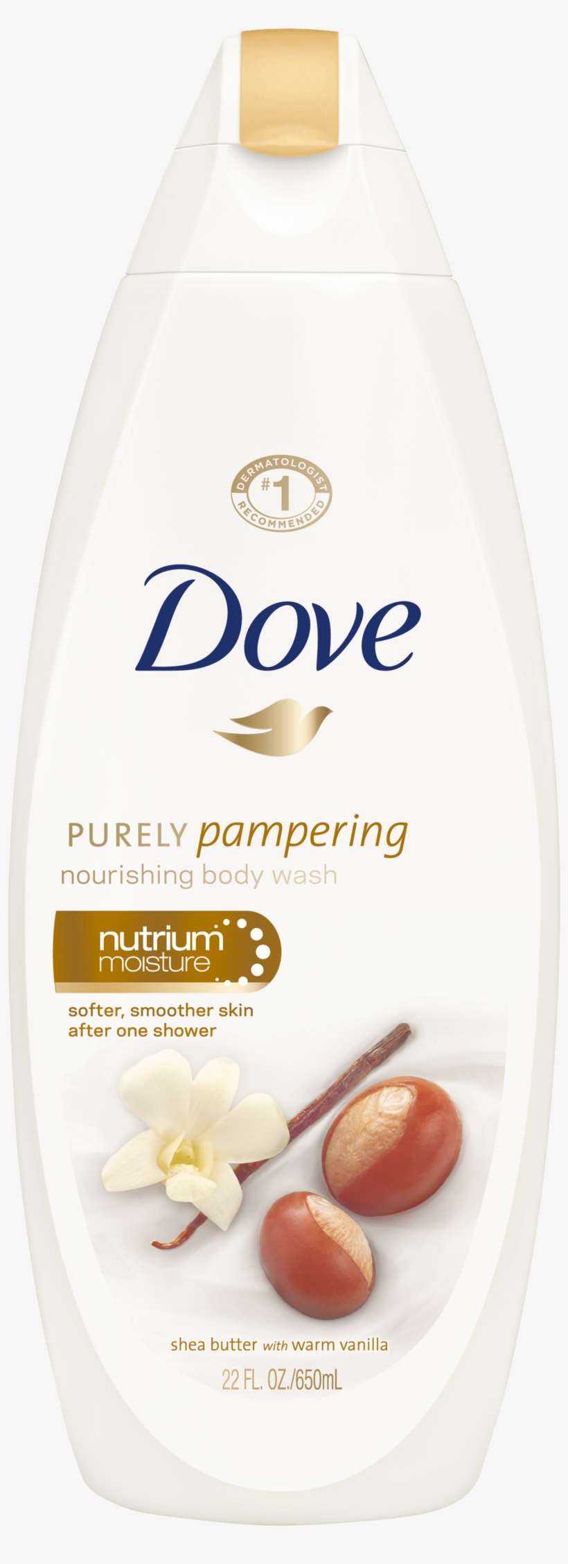 Dove Purely Pampering Shea Butter With Warm Vanilla - Dove Body Wash Shea Butter, transparent png #8641138