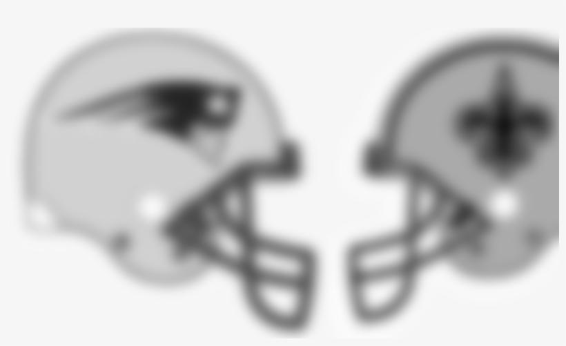 New England Patriots At New Orleans Saints (10 0) Monday, - Giants Vs Patriots Helmets, transparent png #8647674