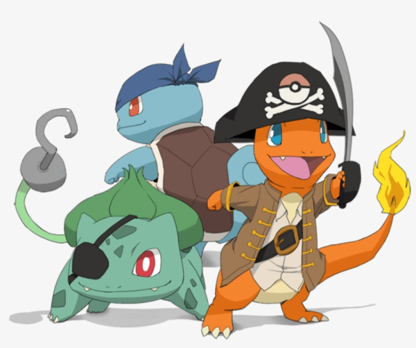 Free Png Download Pikachu With Eye Patch Png Images - Pokemon Squirtle Bulbasaur And Charmander, transparent png #8651111