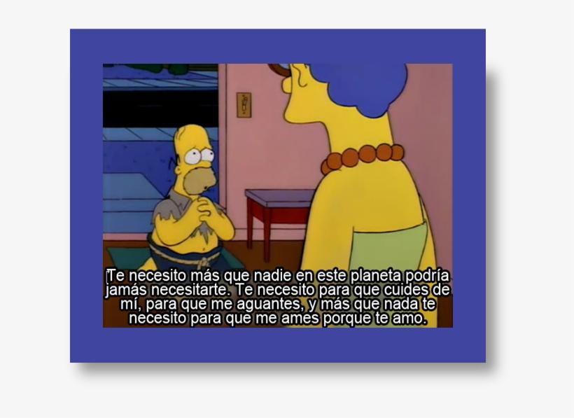 El Amor Nos Convierte A Todos En Idiotas, Vemos A Través - Homer Simpson I Miss You, transparent png #8656276