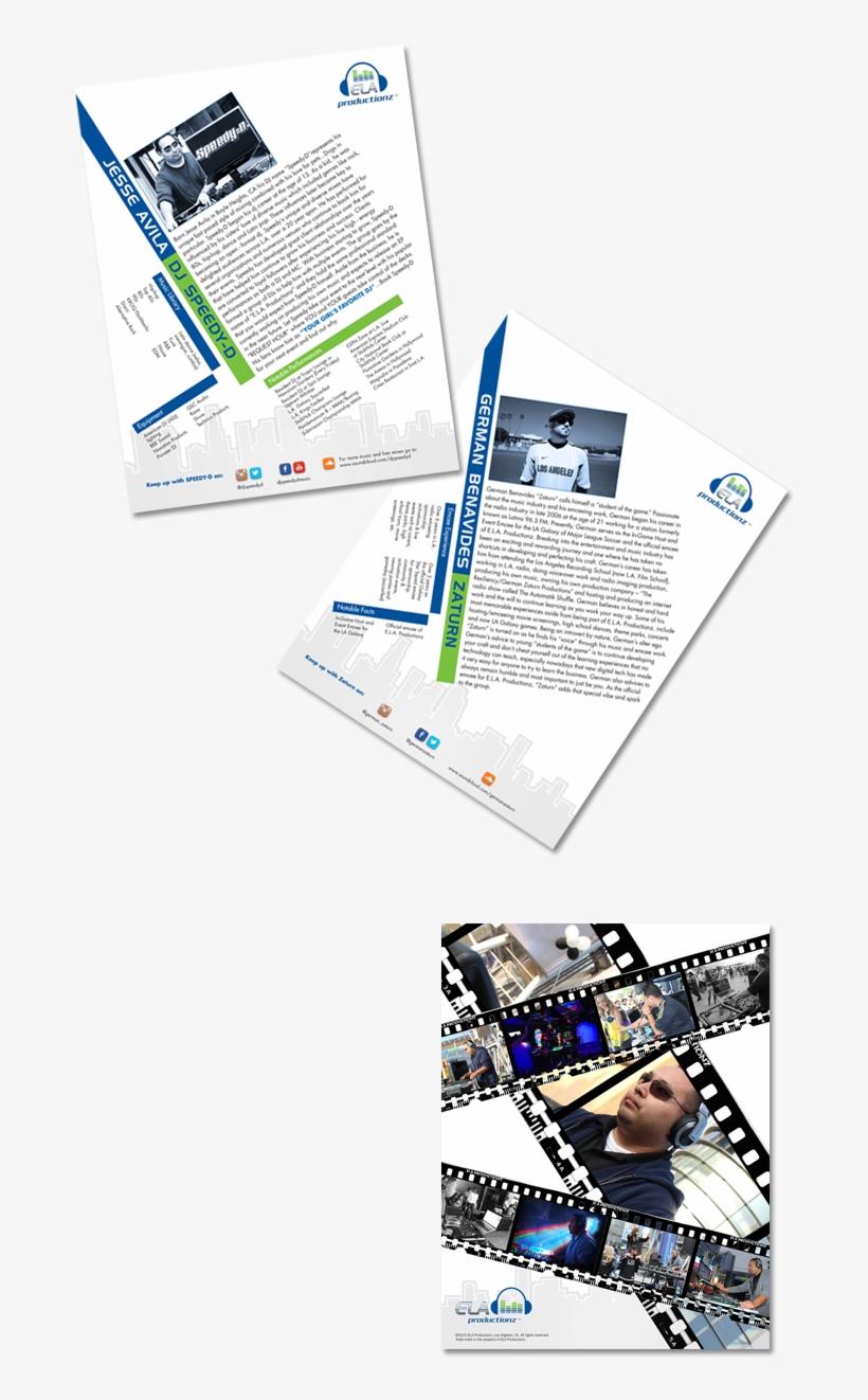 Logo And Bio Sheets Design For Ela Productionz, A Company - Graphic Design, transparent png #8658957