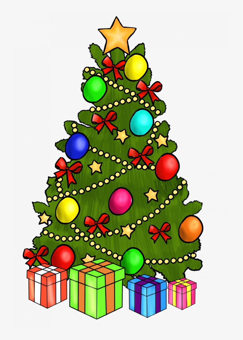 Christmas ~ Merry Christmas And Happy New Year Clipart - Christmas Tree Clipart, transparent png #8675839