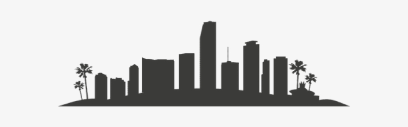 Miami Clipart Clipart Silhouette - Los Angeles City Skyline Silhouette Clipart, transparent png #8683081