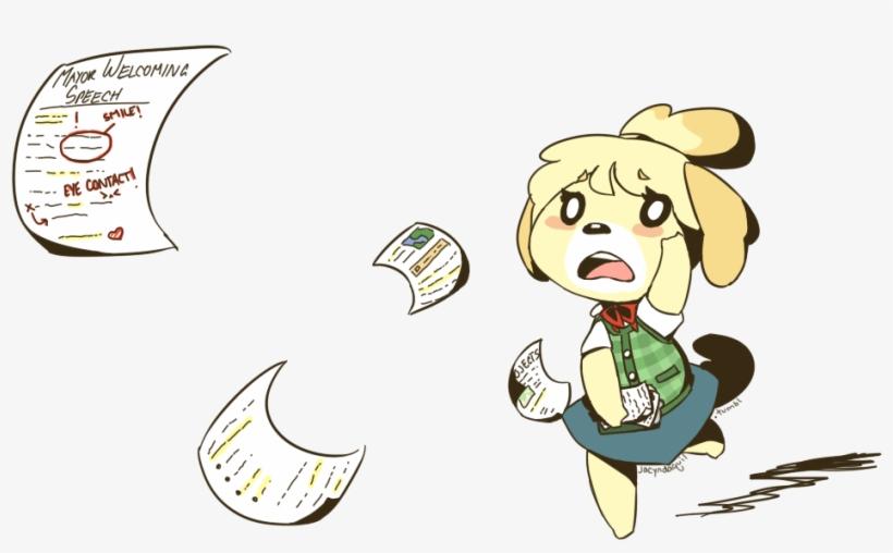Animal Crossing Villager Leaving - Isabelle Animal Crossing Fruit, transparent png #8697610