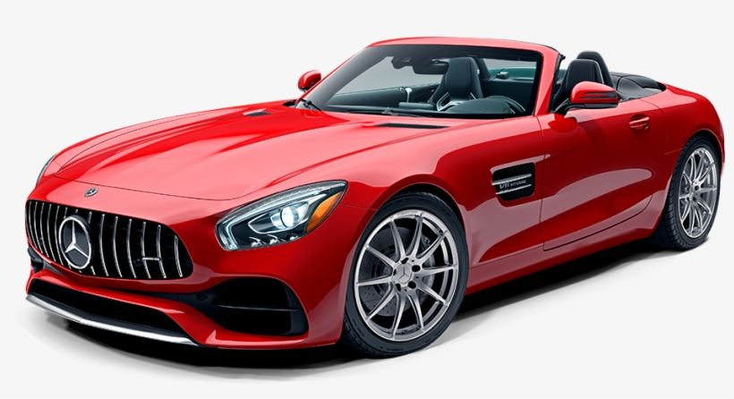 Luxury Car Png - Mercedes Amg Gt Roadster Red, transparent png #870311