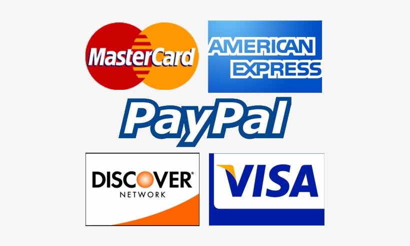 Credit Card Logos - Visa Mastercard American Express