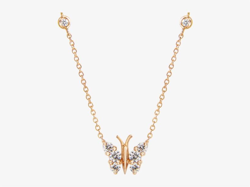 Diamond Pendant Petite In Rose Gold - Gold Diamond Elephant Necklace, transparent png #870927