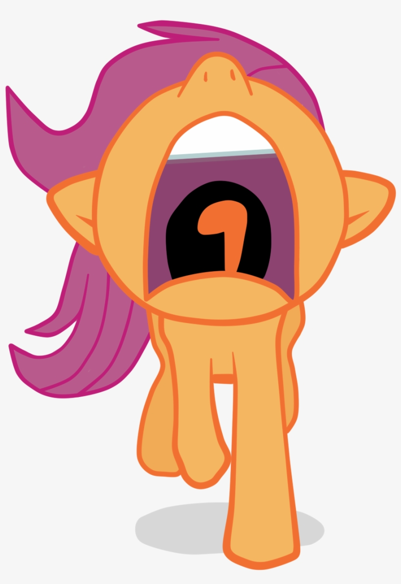 Arcum42, Nose In The Air, Open Mouth, Running, Safe, - Scootaloo Scared Png, transparent png #871896