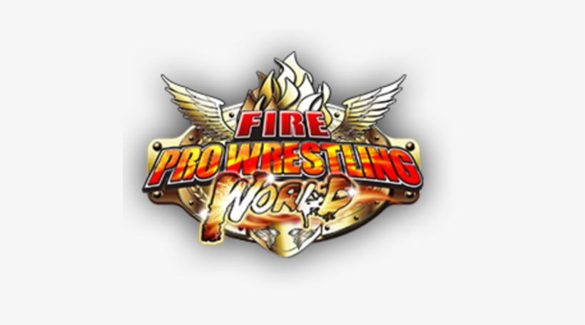On March 2nd The Game Fire Pro Wrestling World Got - Fire Pro Wrestling World Logo, transparent png #871914