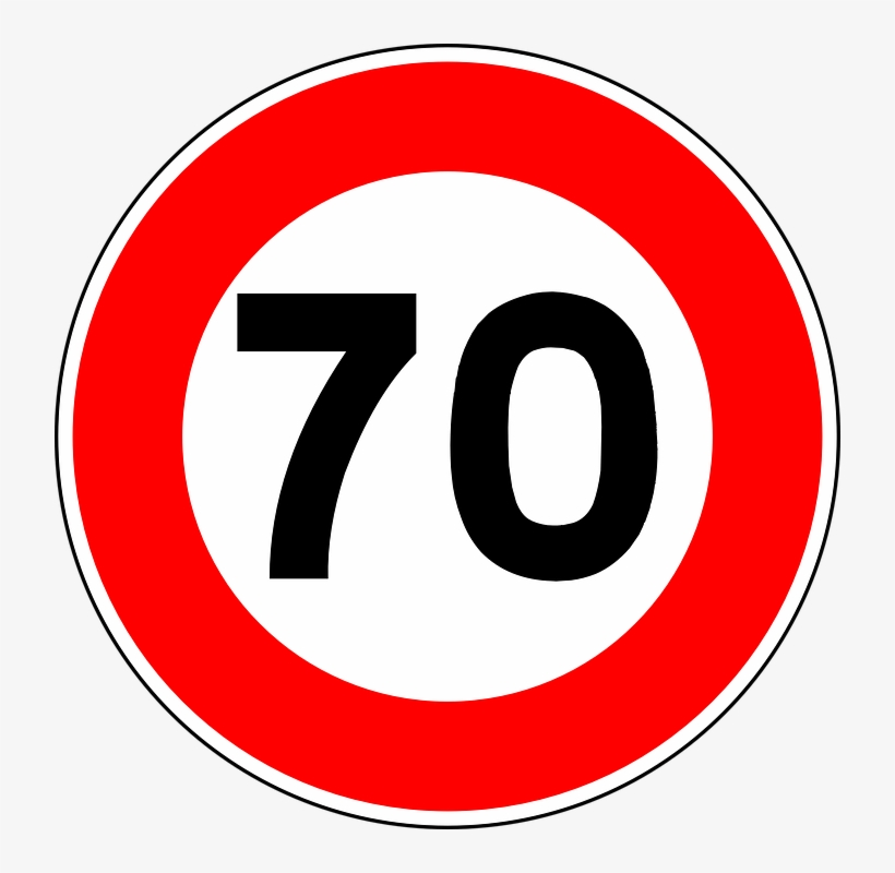 Speed Limit Road Sign - Road Signs Speed Limit, transparent png #872029
