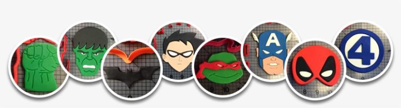 Jb Cookie Circles Super Heroes - Cookie Cutters Super Hero 111 Cookie Cutter 2 Inches, transparent png #872408