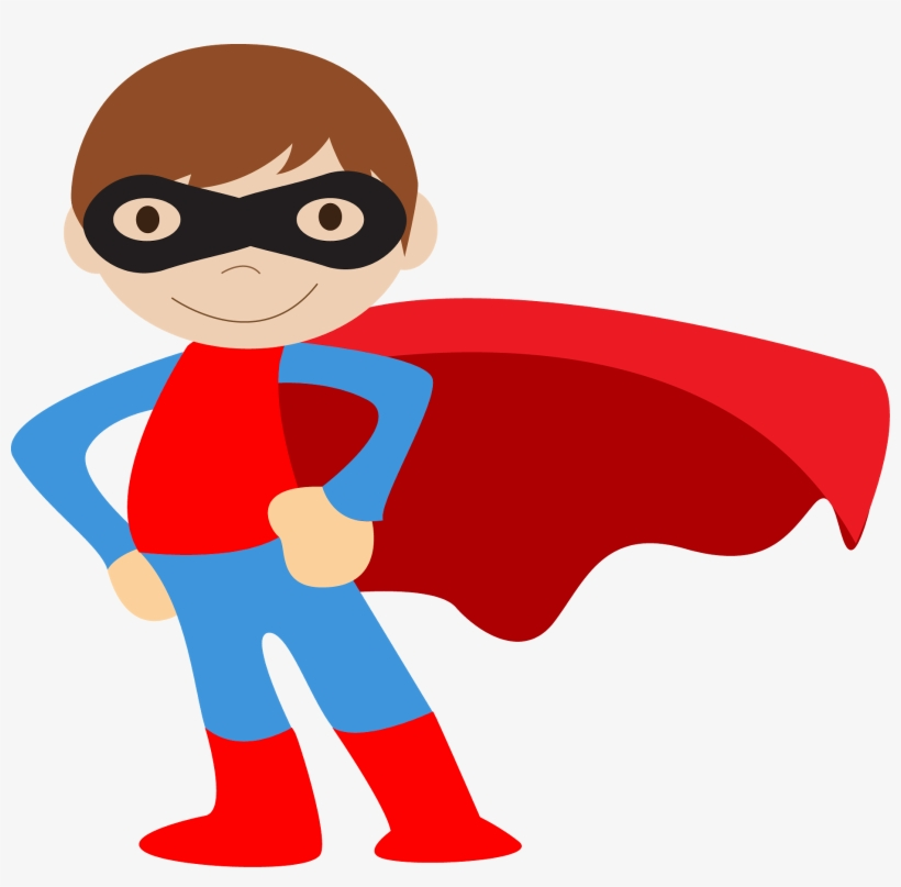 Kids Dressed As Superheroes Clipart - Super Hero Clip Art Boys, transparent png #873278
