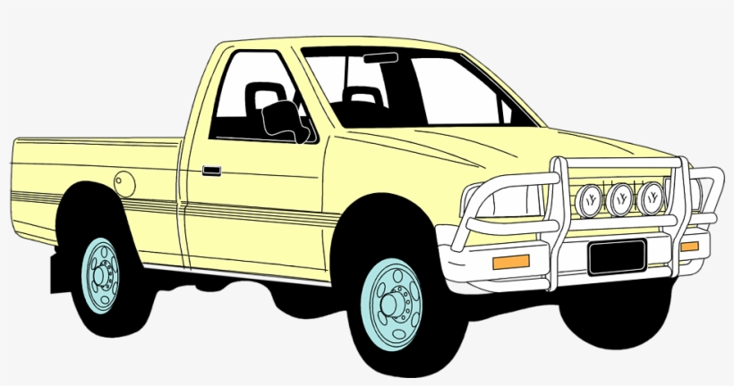 Clip Art Freeuse Pickup Truck Clipart Free - Pick Up Truck Clip Art, transparent png #873535