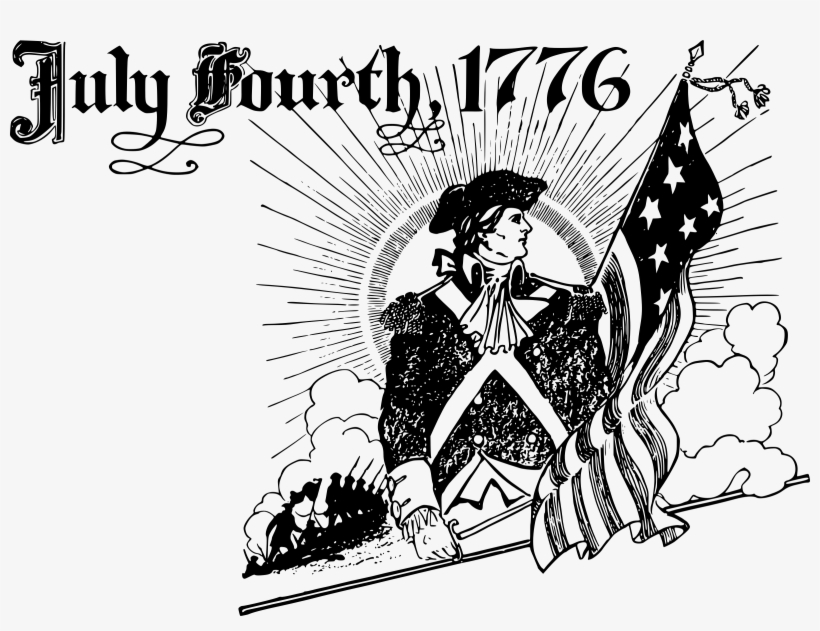 info for 9e9ba d9352 Independence Day Clipart Small - July 4th 1776 Black And White