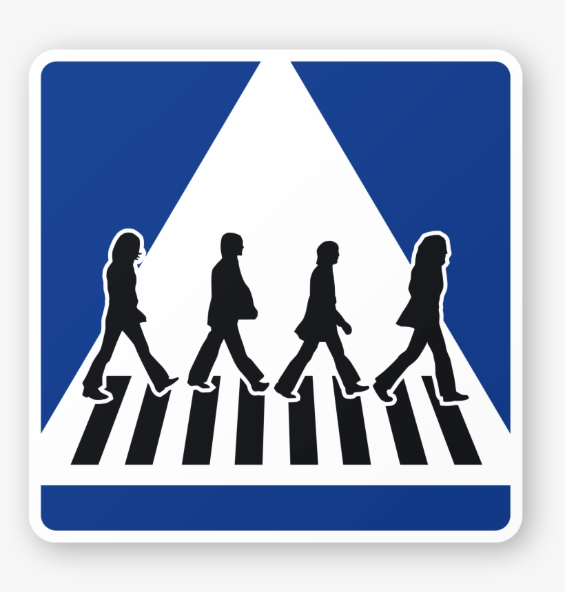 28 Collection Of Crossing The Road Clipart - Beatles Abbey Road, transparent png #874726