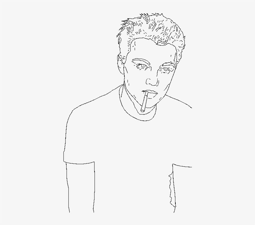 I Did Some Simple Drawings Of Celebrities On Photoshop - Drawing, transparent png #877076