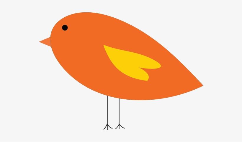 Bird orange. Twitter clip art at