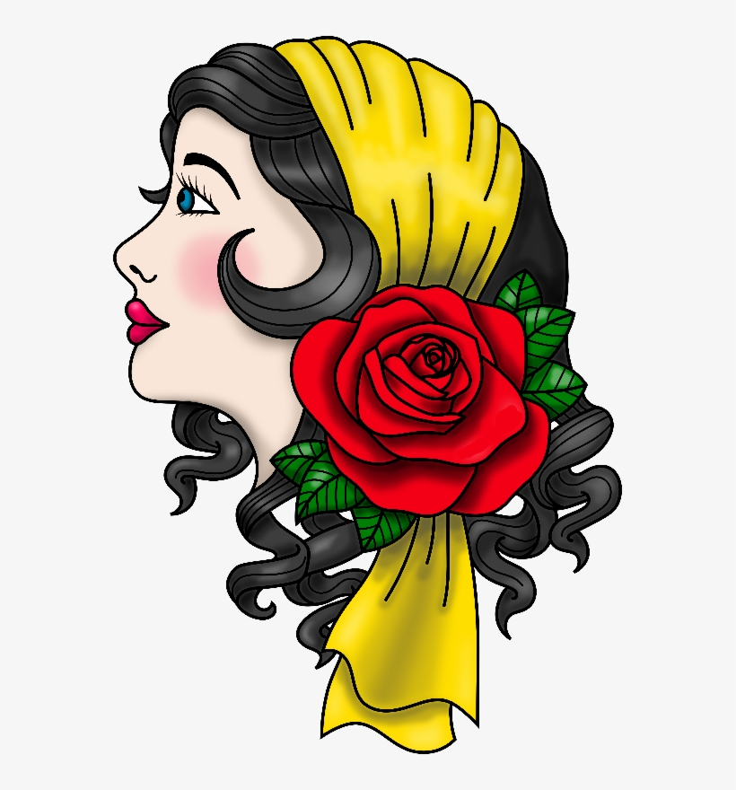 Gypsy Traditional Tattoo Gifts By Cm - Roses Transparent Png Tattoo, transparent png #878339