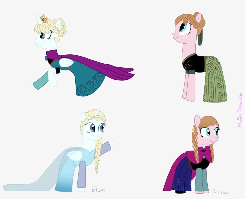 Request) Disney Frozen Elsa Y Anna (pony Version) By - Elsa Ve Anna Pony, transparent png #878580
