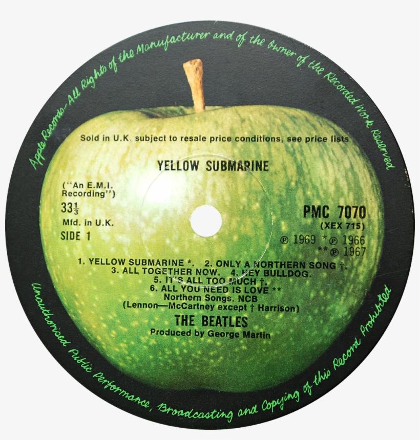 Pmc7070 Yellow Submarine Label - Beatles Yellow Submarine Label, transparent png #879879