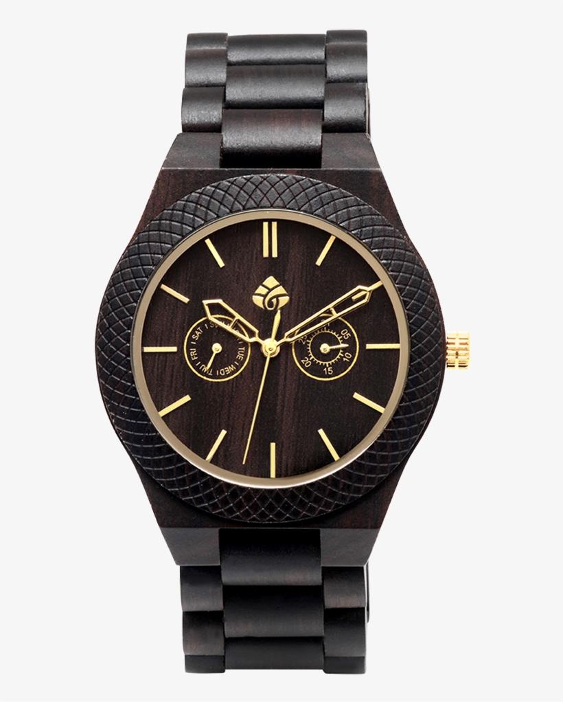 Leafwood, Juglan Nut Gold, Sandalwood Mens Wood Wrist - Les Montre Pour Homme, transparent png #8701202