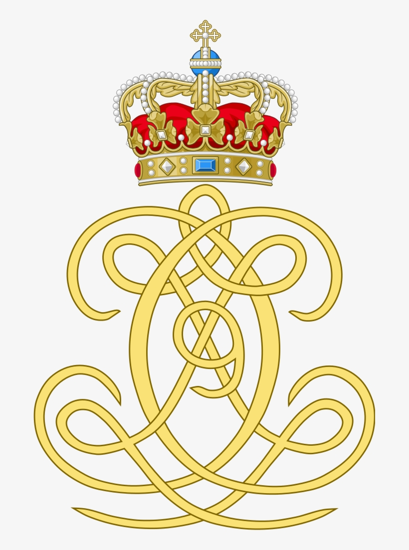 Dual Cypher Of King Christian Ix And Queen Louise Of - Royal Arms Of King Christian Ii Of Denmark, transparent png #8701558