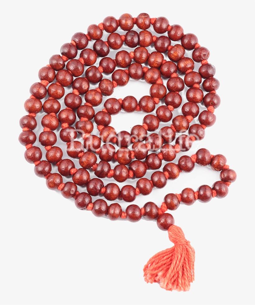 Red Sandalwood Mala - Bead - Free Transparent PNG Download