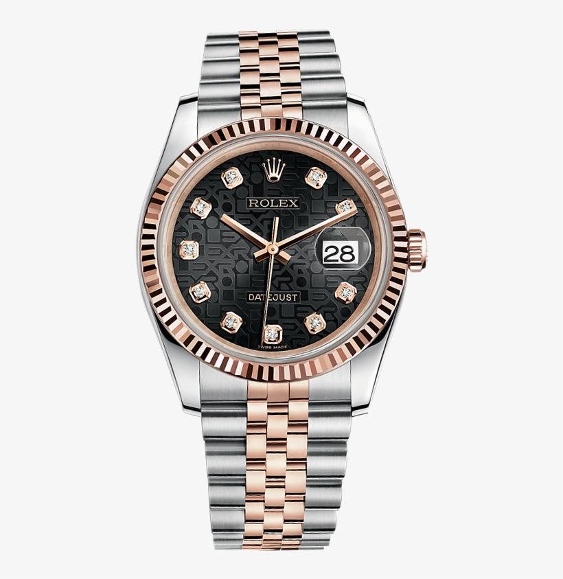 Diamond Jewellery Datejust Watch Rolex Source Black - Rolex Datejust Oyster Perpetual Blue, transparent png #8708316