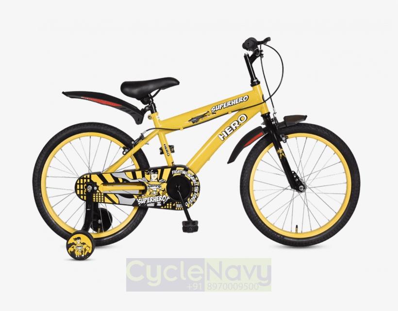 Hero Superhero 16t Yellow Kids Bicycle - Hero Blast 20t Cycle, transparent png #8719688