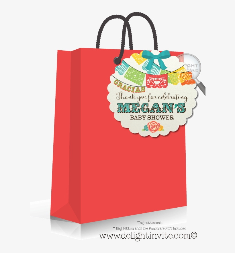 Mexican Fiesta Baby Shower Favor Tags - Birthday Party Paint Party Favor Bags, transparent png #8721744