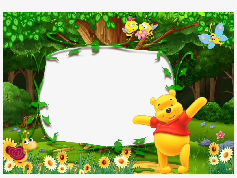 Kids Birthday Background Png - Winnie The Pooh Frame, transparent png #8726161