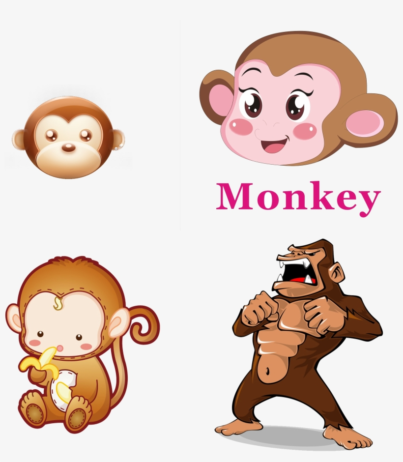 Western Gorilla Ape Clip Art - Transparent Baby Monkey Cartoon, transparent png #8733394