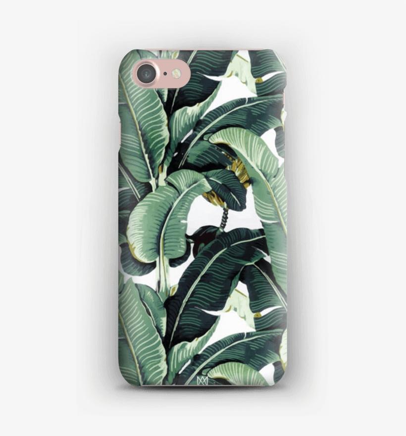 Tropical Bev Hills Banana Leaf Phone Case - Banana Leaves Iphone X, transparent png #8741268