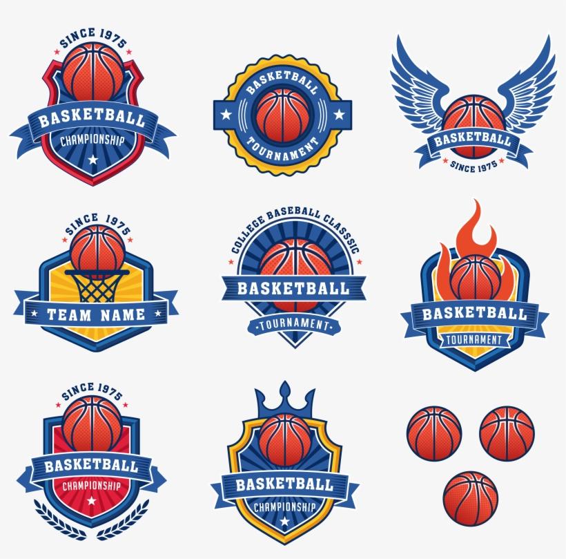 Clip Art Freeuse Logo Royalty Free Stock Photography - Basketball Team Logo Vector, transparent png #8750737