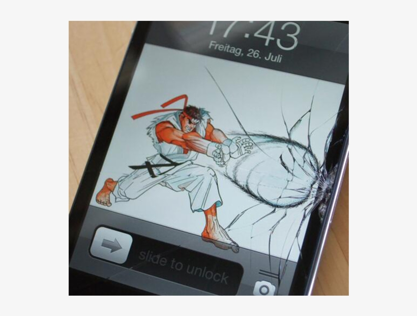 How To Make The Best Of A Cracked Phone Screen - Really Bad Cracked Screen, transparent png #8757557
