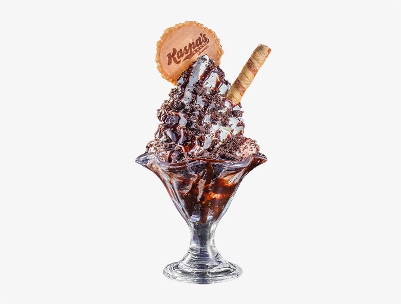 Cookies & Cream Sundae With Oreo Cookies - Ice Cream Cone, transparent png #8757752