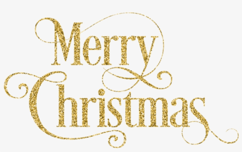 Free Png Merry Christmas Gold Png - Transparent Background Merry Christmas Gold, transparent png #8761039