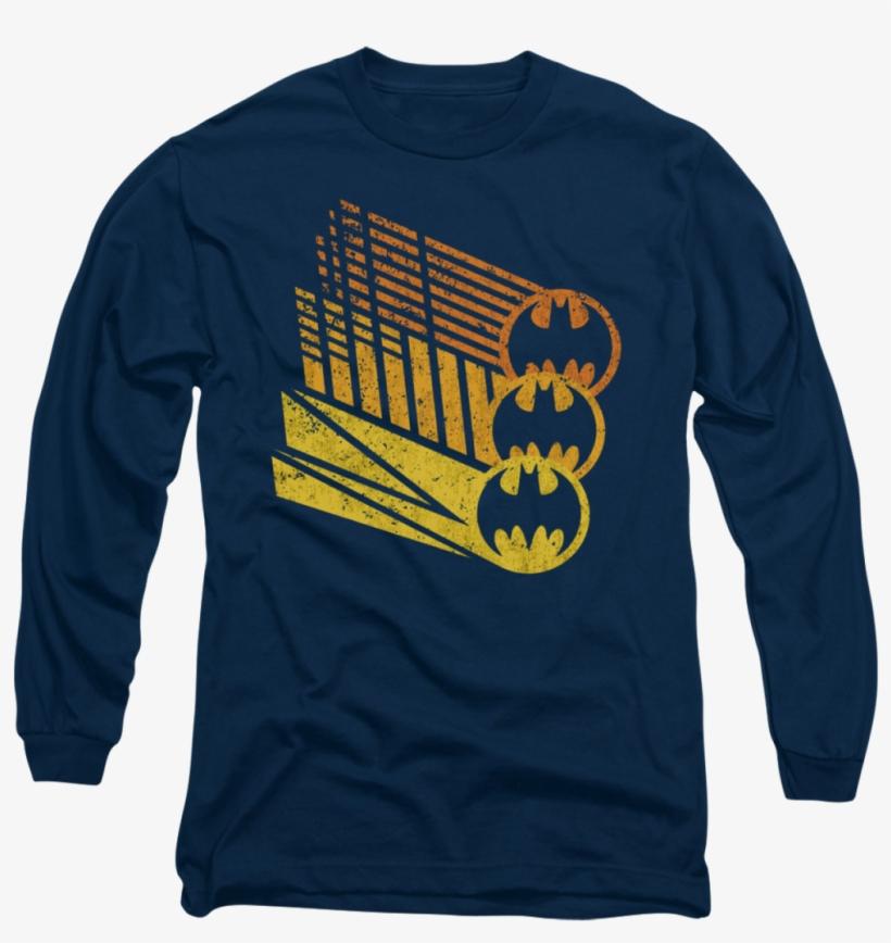 Dorkees - Com - Batman - Bat Signal Shapes Long Sleeve - Long-sleeved T-shirt, transparent png #8763007