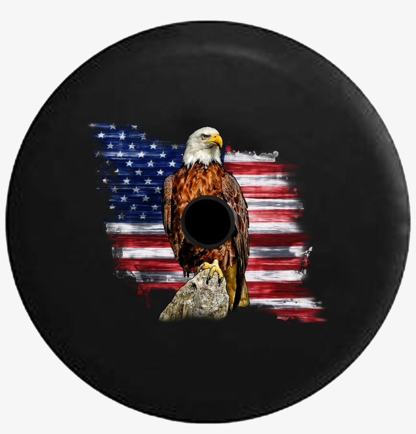 Jeep Wrangler Jl Backup Camera Day Rustic Vintage American - Patriotic Jeep Tire Covers, transparent png #8765874