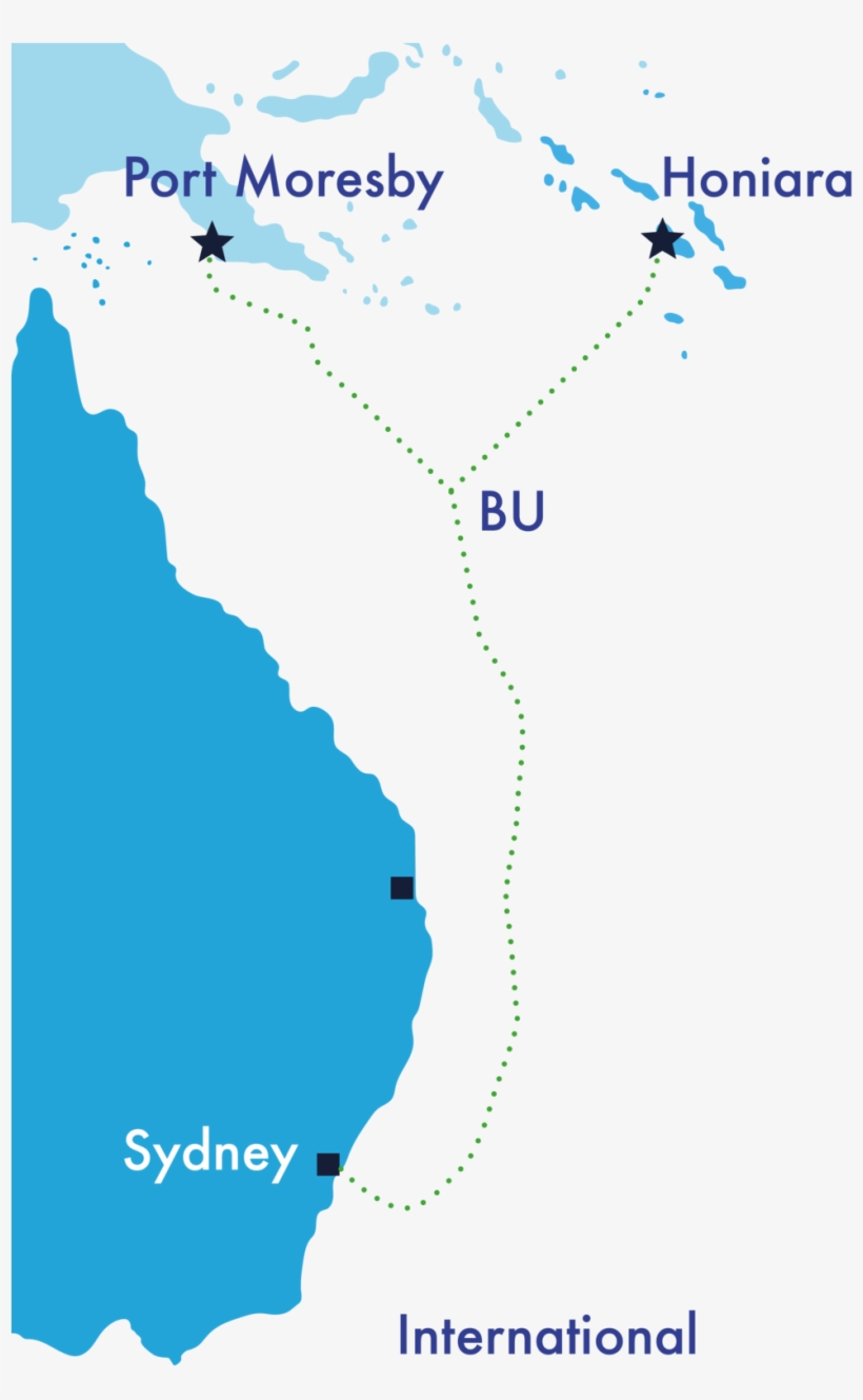 The Coral Sea Cable System V2 - Map - Free Transparent PNG ...