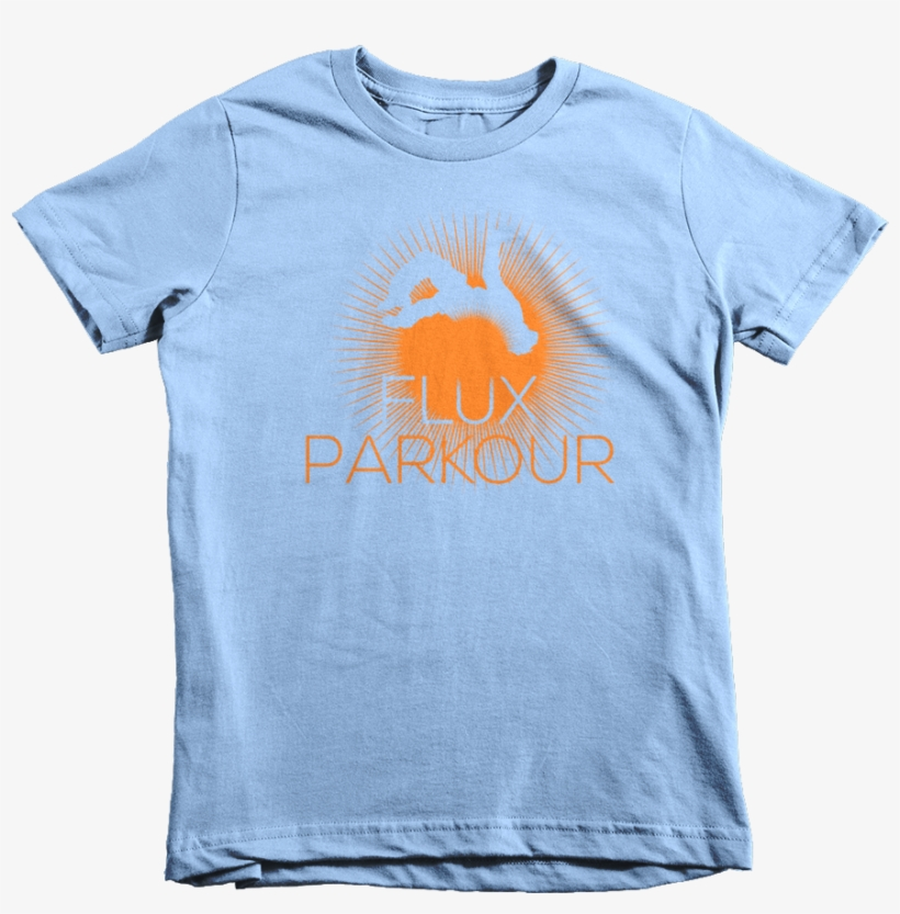 Mockup Wrinkle Front Baby Blue - Kids Ask Me About T Shirt, transparent png #8769143