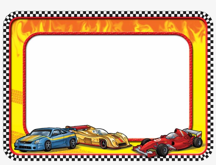 Tcr5310 Race Cars Name Tags Image - Race Car Name Tag, transparent png #8769262