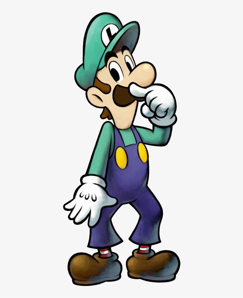 Enclosed Grand Dad - Mario And Luigi Partners In Time Luigi, transparent png #8784115
