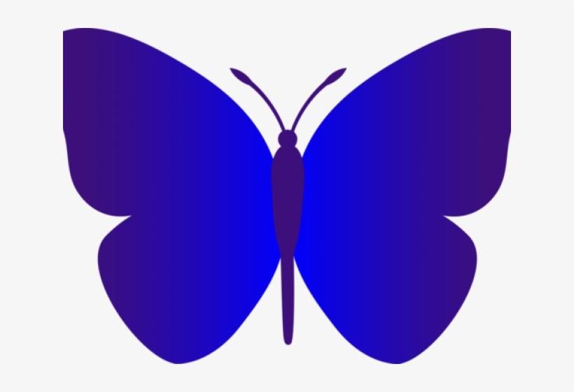 Indigo Clipart Light Pink Butterfly - Simple Clip Art Butterfly, transparent png #8787122