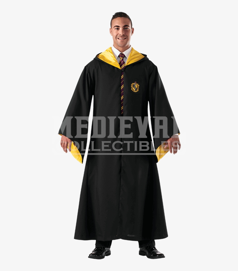 Harry Potter Hufflepuff Replica Robe - Harry Potter Hogwarts Clothes, transparent png #8788216