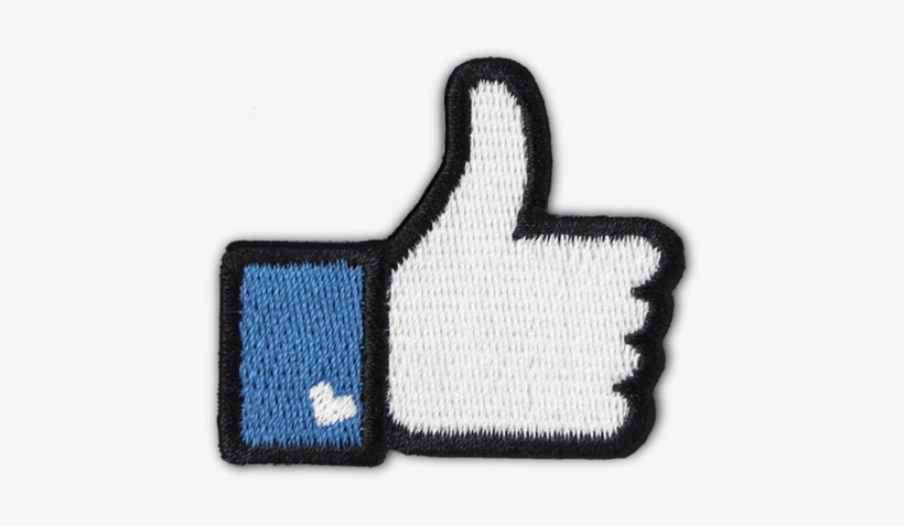 Fb 'like' Patch - Like Us On Facebook, transparent png #8788528