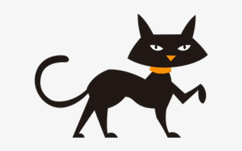 Black Cat Clipart Walking Cat Free Transparent Png Download Pngkey