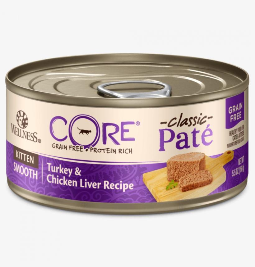 Wellness Core Grain Free Natural Kitten Health Turkey - Wellness Core Natural Canned Grain Free Wet Pate Cat, transparent png #882356