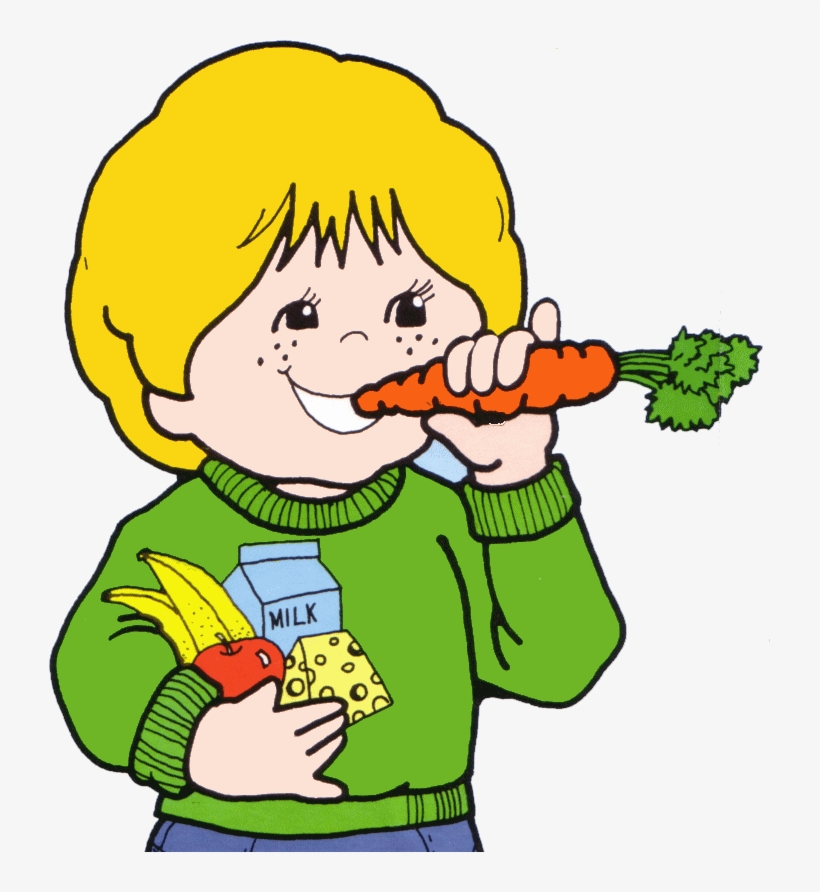 Kids Eating Clipart Png - Kids Eating Healthy Food Clipart, transparent png #882475
